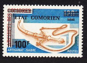 Comoro Is. Overprint 'Etat Comorien' 100 Fr on 120 Fr SC#151 MI#225