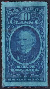 Series 102 10 Class C Cigarettes Tax Stamp (1926) Used