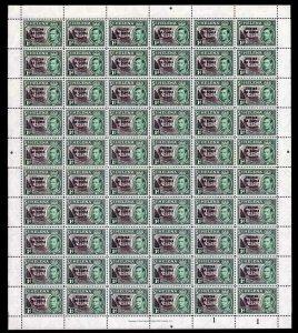 Tristan Da Cunha SG2 KGVI 1d Black and Green U/M SHEET