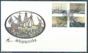 CISKEI  SHIPWRECKS  FIRST DAY COVER