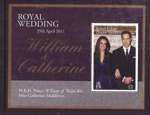 BIOT-Sc#426-unused NH sheet-Royal Wedding-Prince William & Kate-2011-