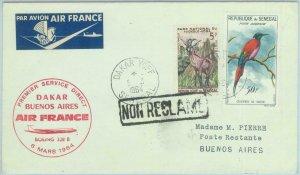 83220 - SENEGAL - Postal History - FIRST FLIGHT:  Dakar - Buenos Aires 1964