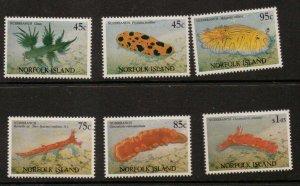 NORFOLK ISLAND SG550/5 1993 NUDIBRANCHS MNH