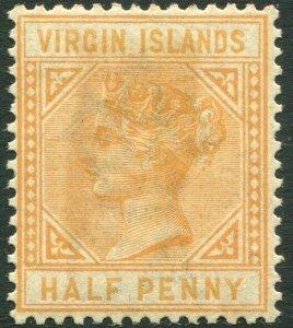 BRITISH VIRGIN ISLANDS-1883-84 ½d Yellow-Buff Sg 26 toned gum AMM V33644