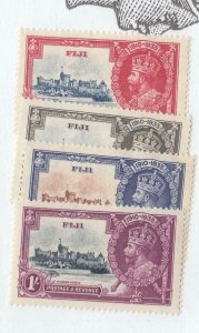 FIJI # 110-113 VF-MNH KGV SILVER JUBILEES