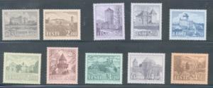 Estonia Sc 244-53 1993-1997 Castles stamp set mint NH