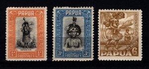 Papua 1932-40 Various [Unused]