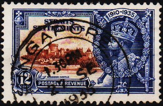 Straits Settlements.1935 12c S.G.258 Fine Used