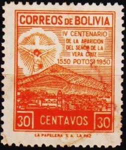Bolivia. 1950 30c S.G.494 Fine Used