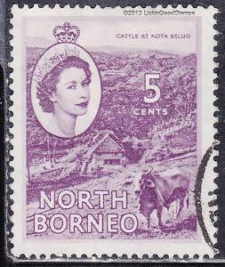 North Borneo 265 USED 1954 Cattle At Kota Belud