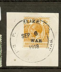 BRITISH HONDURAS (P2605B) KGV  3C   WAR TAX  SG118  PIECE    SON CDS   VFU