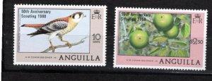 Anguilla 1980 Sc 387-8 MNH Commemorative Perforate
