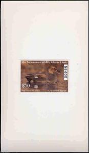 MISSISSIPPI #26A 2001 STATE DUCK GADWALL HUNTER TYPE  by Joe MacHudspeth