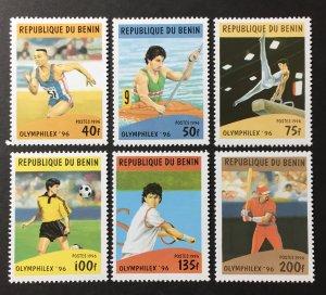Benin 1996 #857-62, MNH, CV $4.50
