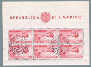 1961 San Marino, Bf N°22 Helicopter Used Cancellation FDC Excellent Quality'