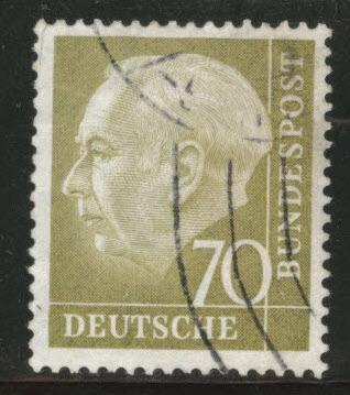 Germany Scott 716 used 1954 -1960 President Heuss stamp
