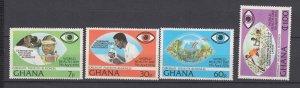 J28479, 1976 ghana set mnh #592-5 medicine