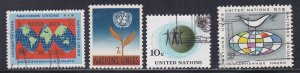 United Nations - New York # 125-128, Definitives, Used, 1/3 Cat.