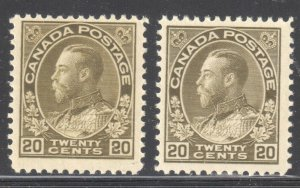 Canada VF NH  #119, 119b, c, d, iv (All Stamps in perfect condition) C$3450.00
