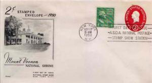 United States, Postal Stationery, Prexies, First Day Cover, New York