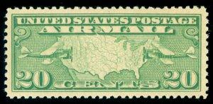MOMEN: US STAMPS #C9 MINT OG NH PSE GRADED CERT XF-SUP 95J LOT #70535