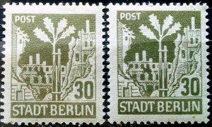 Gemany Allied Occupation Berlin Mi 7 Shades