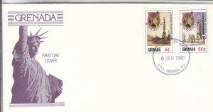 1986, Grenada: 100th Anniv. Statue of Liberty, FDC (E9092)