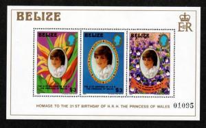 Belize 624 Mint NH MNH Souvenir Sheet Diana's 21st Birthday!