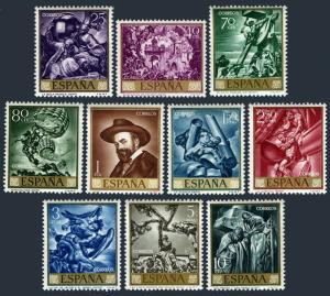 Spain 1337-1346,MNH.Michel 1536-1545. Jose Maria Sert Paintings,1966.