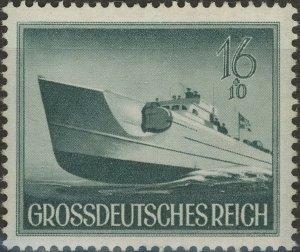 Stamp Germany Mi 881 Sc B265 1944 WW2 3rd Reich Speedboat Naval Wehrmacht MNG