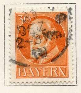 Bayern Bavaria 1914-18 Early Issue Fine Used 30pf. NW-120704