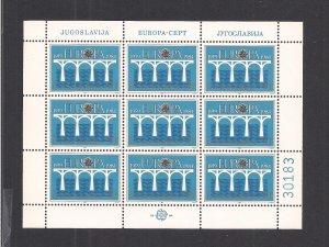 YUGOSLAVIA  SC# 1679  MINISHEET/9  FVF/MNH  1984