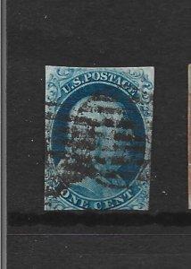 United States Scott #7 1-cent Franklin used 2016 cv $135