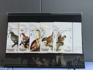 Sharjah and Dependencies Birds cancelled  stamps R26118