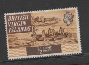 British Virgin Islands  Scott#  206 single  unused  hinged