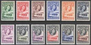 Bechuanaland 1955 1/2d-10s Cattle SG 143-153 Scott 154-165 LMM/MLH Cat£95($123)