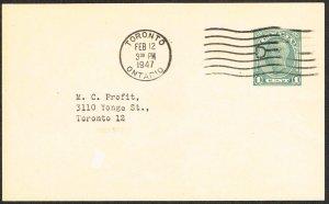 Canada Postal Card Webb P166