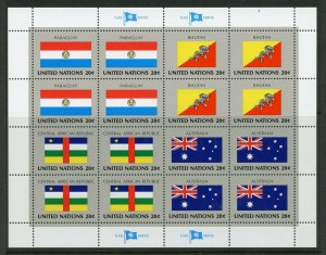 UNITED NATIONS SC# 437-40 PARAGUAY BHUTAN CENTRAL AFRICA AUSTRALIA SHT AS SHOWN