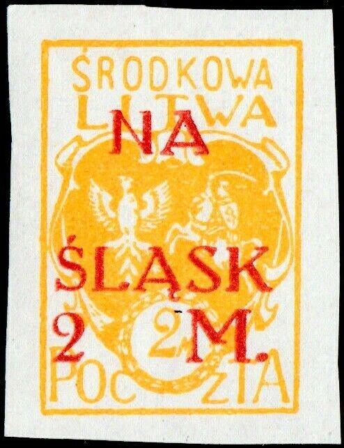 CENTRAL LITHUANIA / MITTELLITAUEN - 1921 Mi.28B 2M/2M Mint* - ref.916c