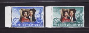 Virgin Islands 241-242 Set MNH Elizabeth II Silver Wedding