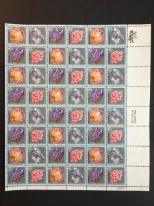 1974 sheet of stamps, Mineral Heritage Sc #1538-41