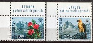 1970 Yugoslavia European Nature Protection Sc# 1042-3 MNH