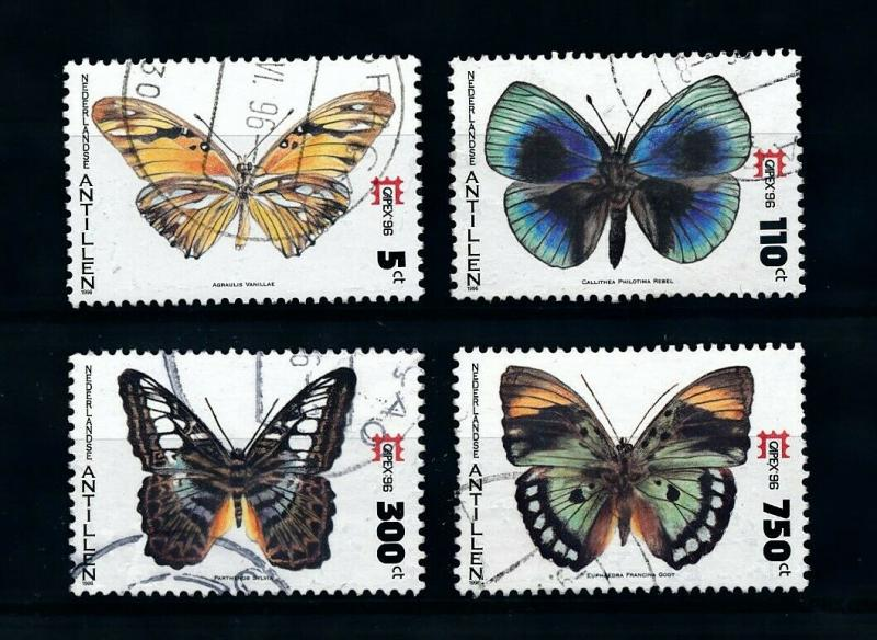 [98833] Netherlands Antilles 1996 Insects Butterflies  USED