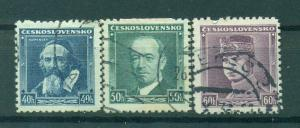 Czechoslovakia sc# 215-217 (1) used cat value $.75