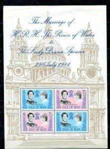Isle of man Souvenir Sheet MNH Royal wedding 11077