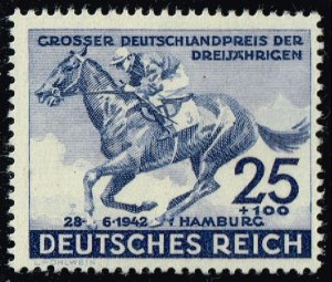 Germany #B204 Horse Racing; Unused (3Stars)