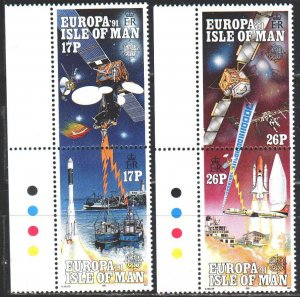 Isle Of Man. 1991. 464-67. Space. MNH.