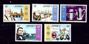 Jersey 367-71 MNH 1985 Huguenot Heritage missing low value