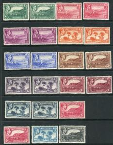 MONTSERRAT-1938-48 lightly mounted set including both Perf  types Sg 101-112