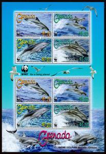 Grenada Scott 3654 - World Wildlife Fund, Clymene Dolphins (2007) Mint NH VF C